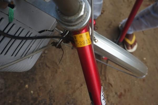 日本からの自転車?