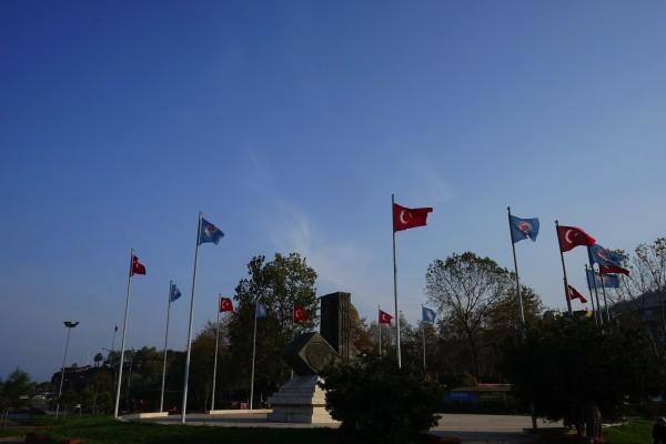 ペプシっぽい旗