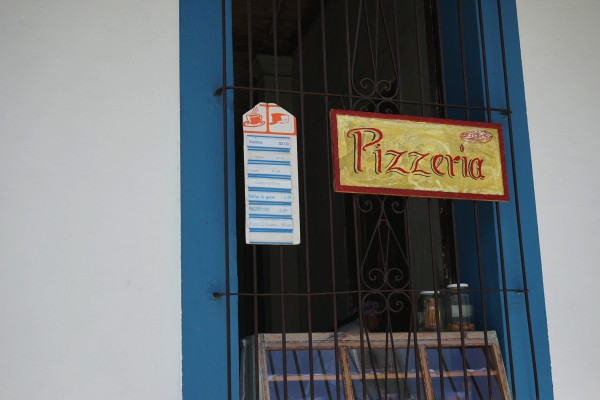 ピザ屋看板