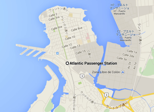 コロンの港地図