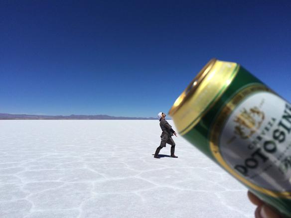 ビール飲む