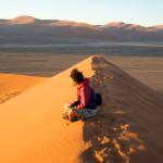 ナミブ砂漠|レンタカー初日。世界遺産の砂丘に登る。